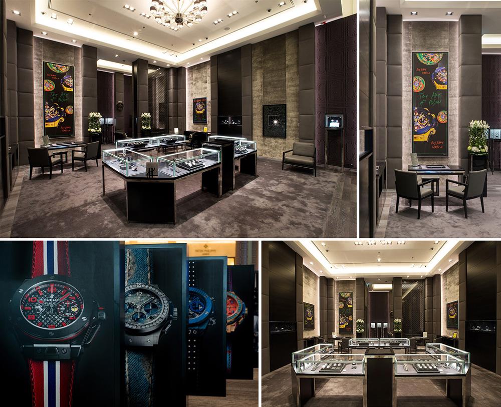 Timezone hublot hublot launches its new flagship for Dubai boutique