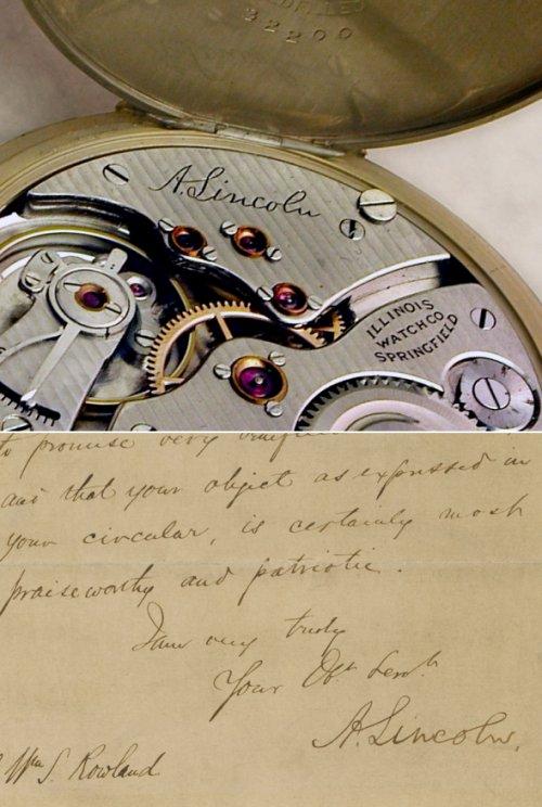 1926 Illinois 12 size 3rd Model, Grade 527, Illinois A. Lincoln, Lincoln signature watch, Illinois 12 size