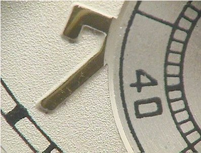 Waltham, Waltham dial, embossed dial