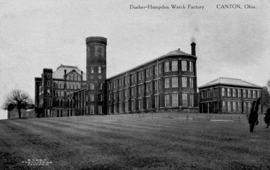 Hampden Watch Factory, Deuber-Hampden watch factory, Presidential Watches, Canton Ohio 1880s
