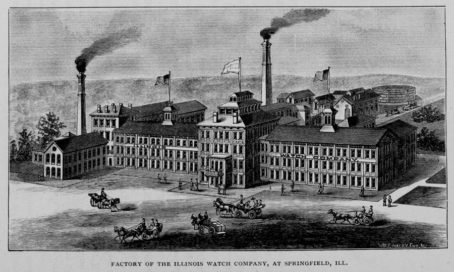 Illinois Watch Factory, Presidential Watches, Springfield Illinois 1889