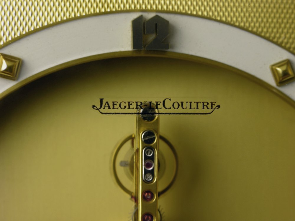 Jaeger LeCoultre 8-day inline clock, JLC inline clock, Jaeger-LeCoultre inline, JLC 210, baguette movement