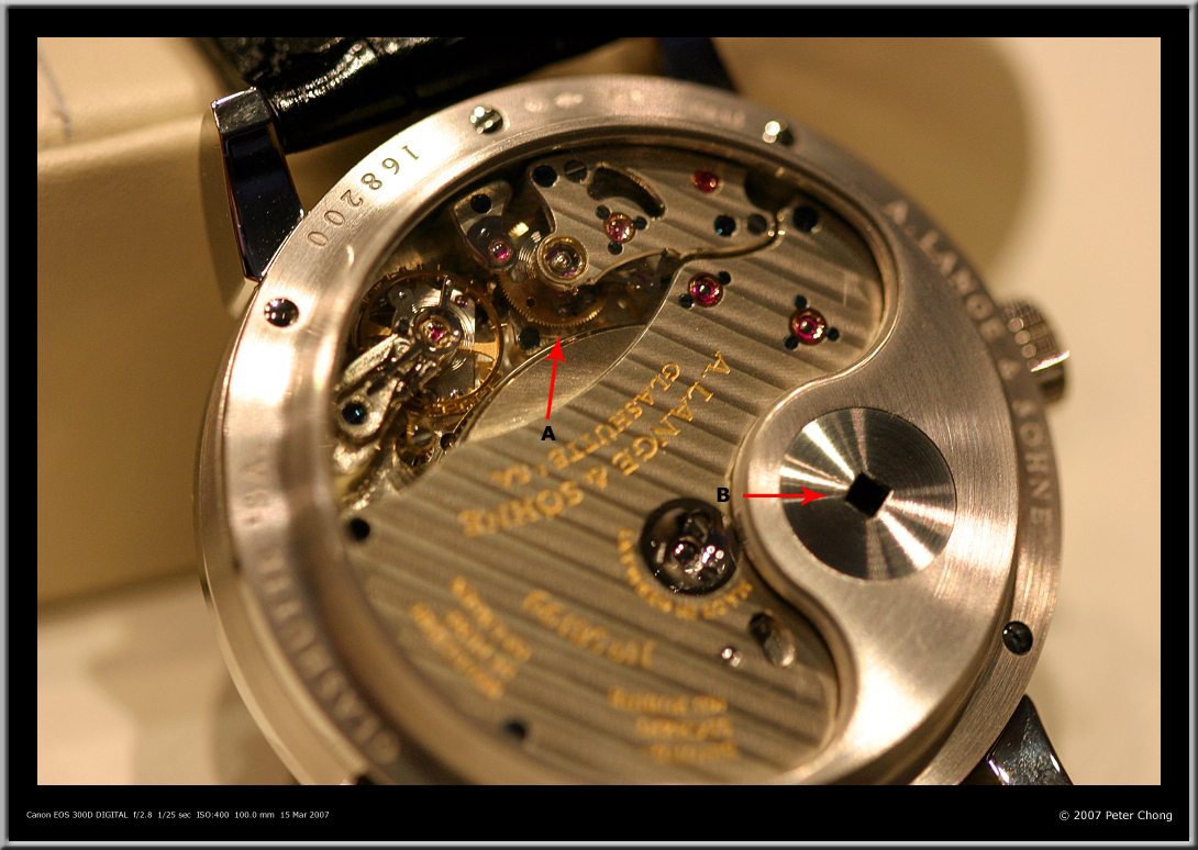 Lange 31 key, Lange 31 remontoir escapement, Lange key system, Lange 31 Peter Chong