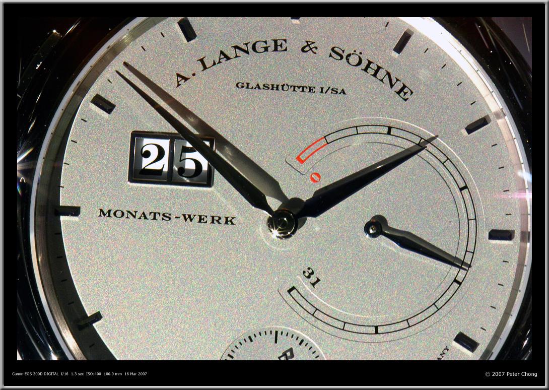 Lange 31 dial, Lange 31 dial design, Lange 31 SIHH 2007