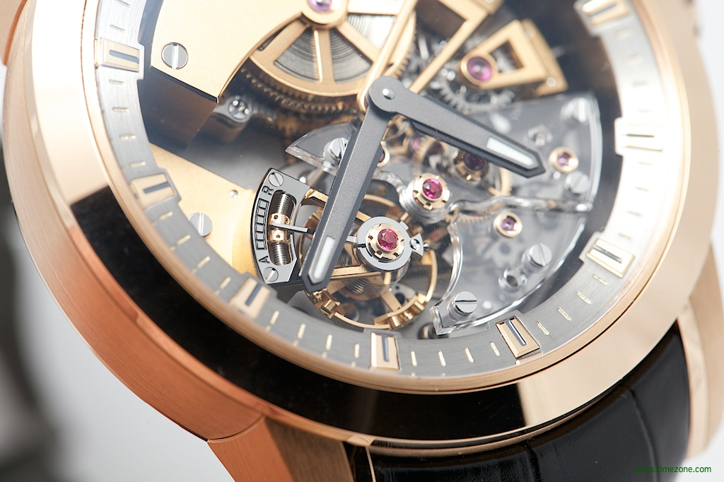 Christophe Claret Basel 2014, Maestoso, micrometric worm screw, pivoted-detent escapement, detent constant force