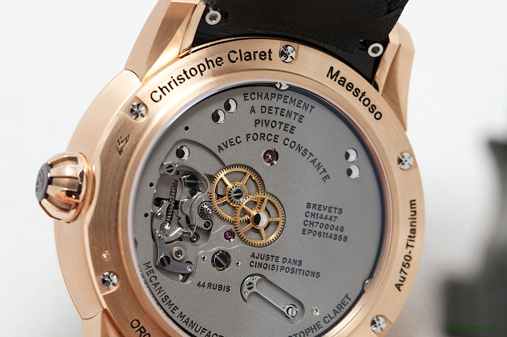 Christophe Claret Basel 2014, Maestoso, pivoted-detent escapement, detent constant force