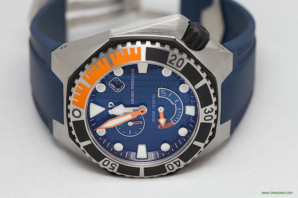 Girard-Perregaux Sea Hawk Blue Orange, GP Sea Hawk Blue Orange, Sea Hawk Blue Orange,  Reference 49960-19-431-FK4A, 49960-19-431-FK4A