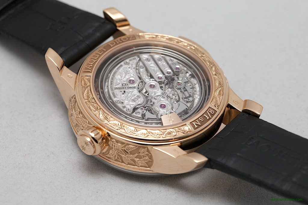 Jaquet Droz Bird Repeater, Bird Repeater Fully Engraved, Jaquet Droz RMA88, minute repeater automaton