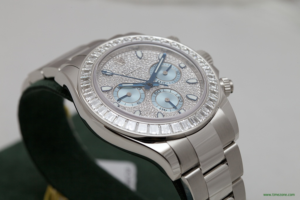Rolex Oyster Perpetual Cosmograph Daytona, Rolex Platinum Diamond Daytona, Platinum Daytona