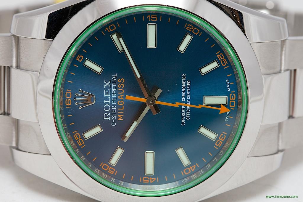 Oyster Perpetual Milgauss, Rolex Milgauss Z Blue Dial, Milieuss Blue Dial
