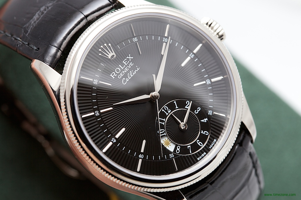 Rolex Cellini dual time, Rolex Cellini White Gold dual time