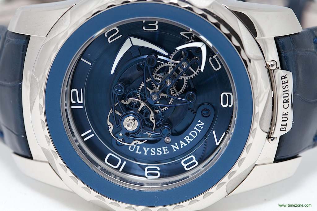 Ulysse Nardin Freak Blue Cruiser, Caliber UN-205, 7-day carrousel Flying tourbillon, Ulysse Nardin Freak, Ulysse Nardin Reference 2050-131/03, Ulysse Nardin Baselworld 2014