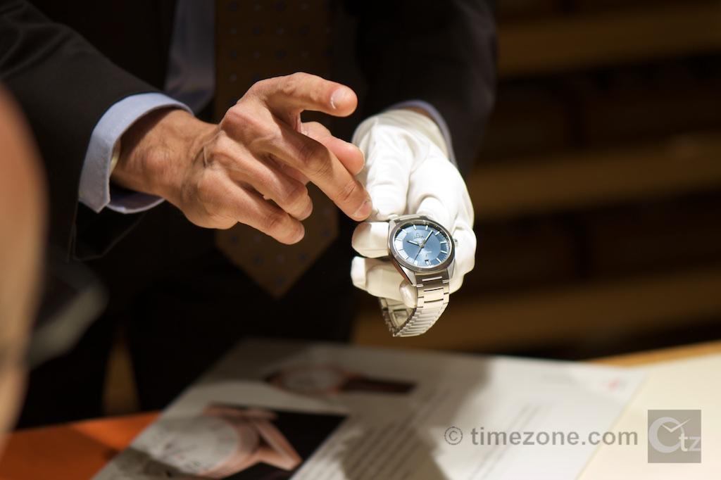 Omega Globemaster Co-Axial Master Chronometer blue, Omega Globemaster stainless steel
