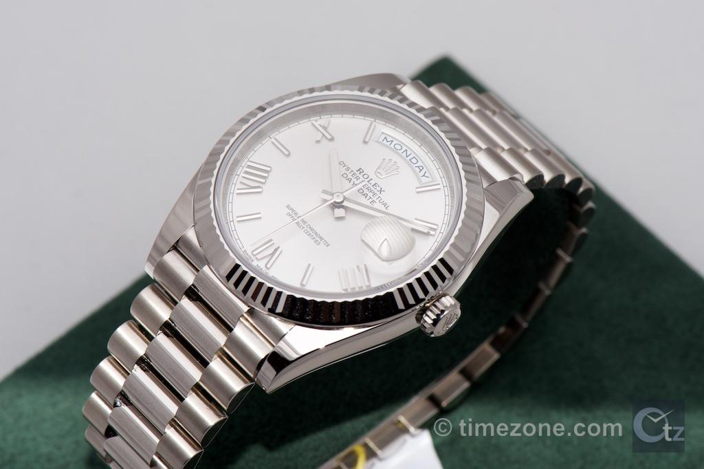 Rolex Day-Date 40, Rolex Day-Date 40 228239, Rolex white gold, Rolex Baselworld 2015, 228239 Day-Date 40, white gold Day Date 40mm, Rolex calibre 3255
