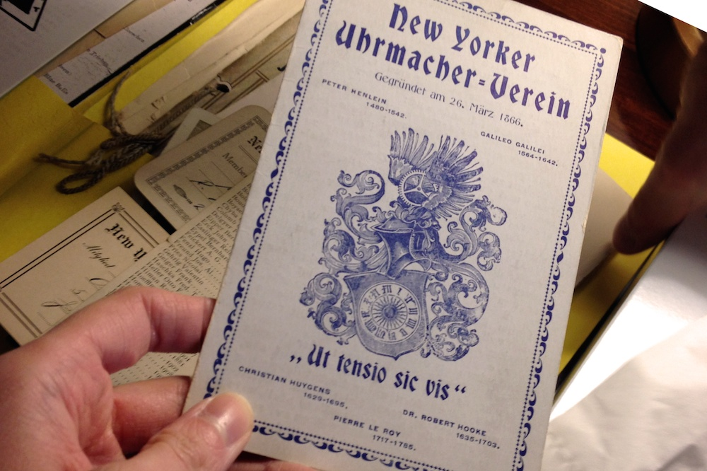 Horological Society of New York, HSNY ephemera