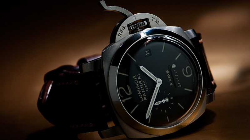 PANERAI LUMINOR 1950 8 DAYS GMT, PAM233, Panerai 233, Watch 101 Power Reserve