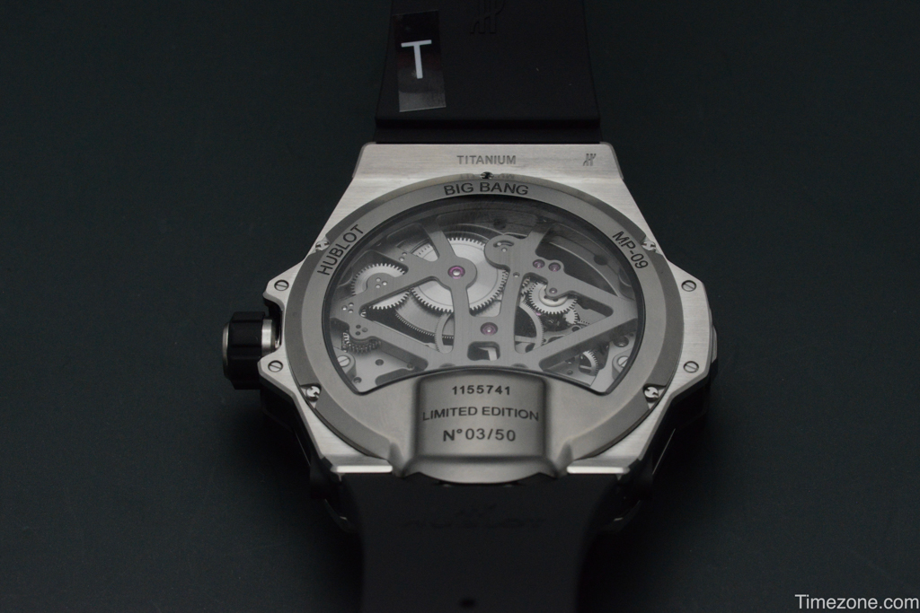 MP-09 Tourbillon Bi-Axis in titanium, 909.NX.1120.RX