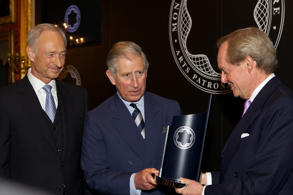 Prince Charles receives Montblanc art patronage award