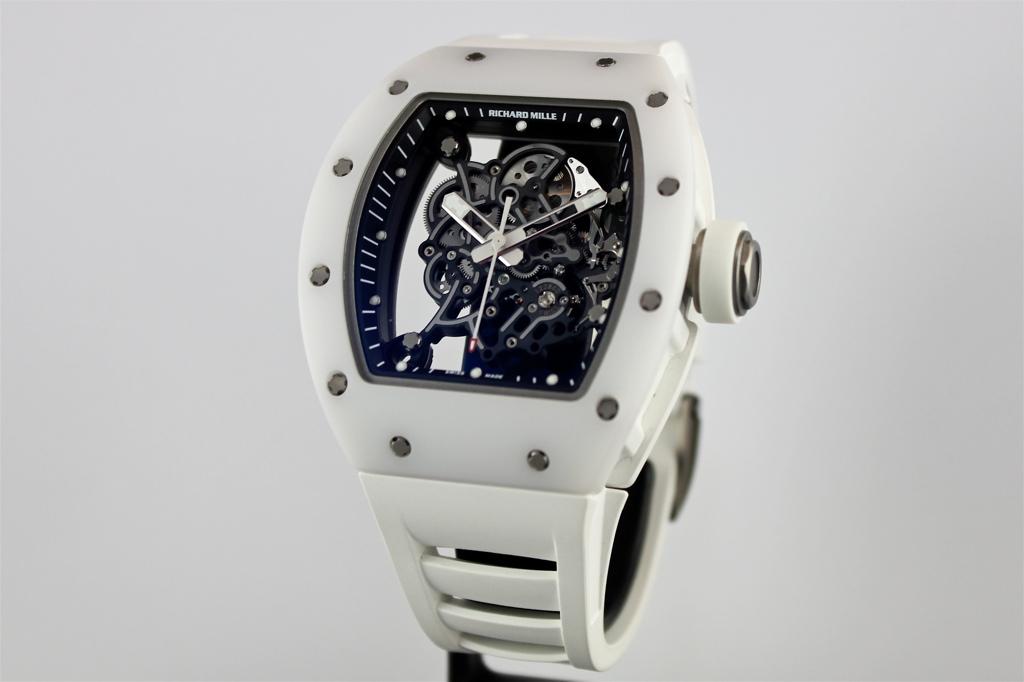richard mille white titanium