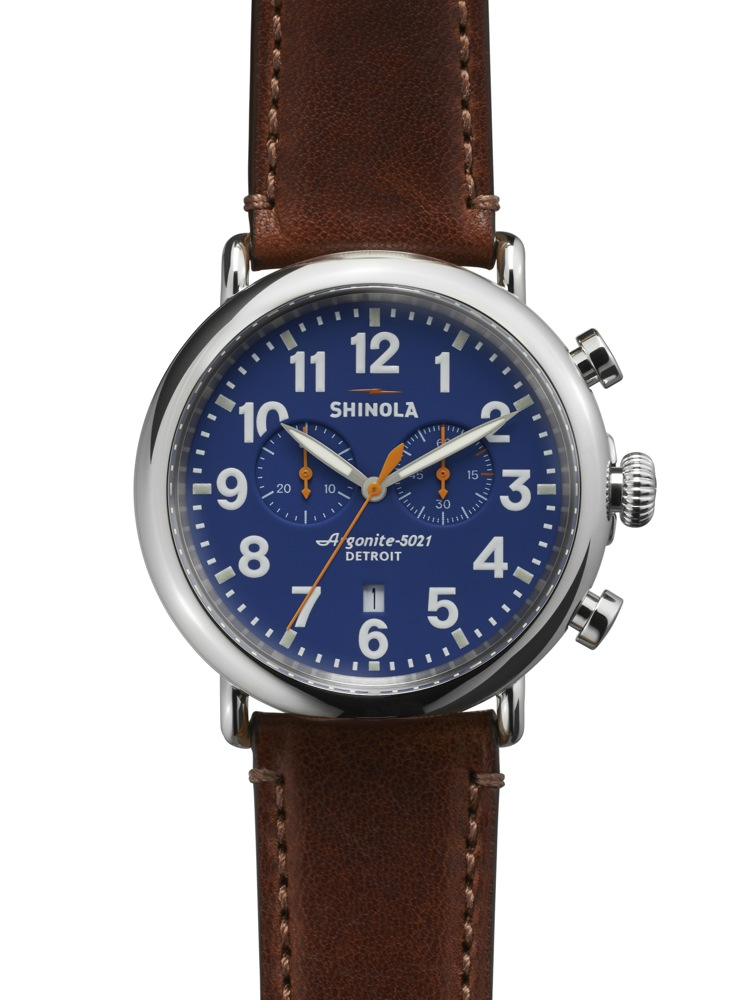 Shinola, Shinola Watch Factory, Shinola Detroit, Argonaut Building, Argonite-5021, Runwell Chronograph