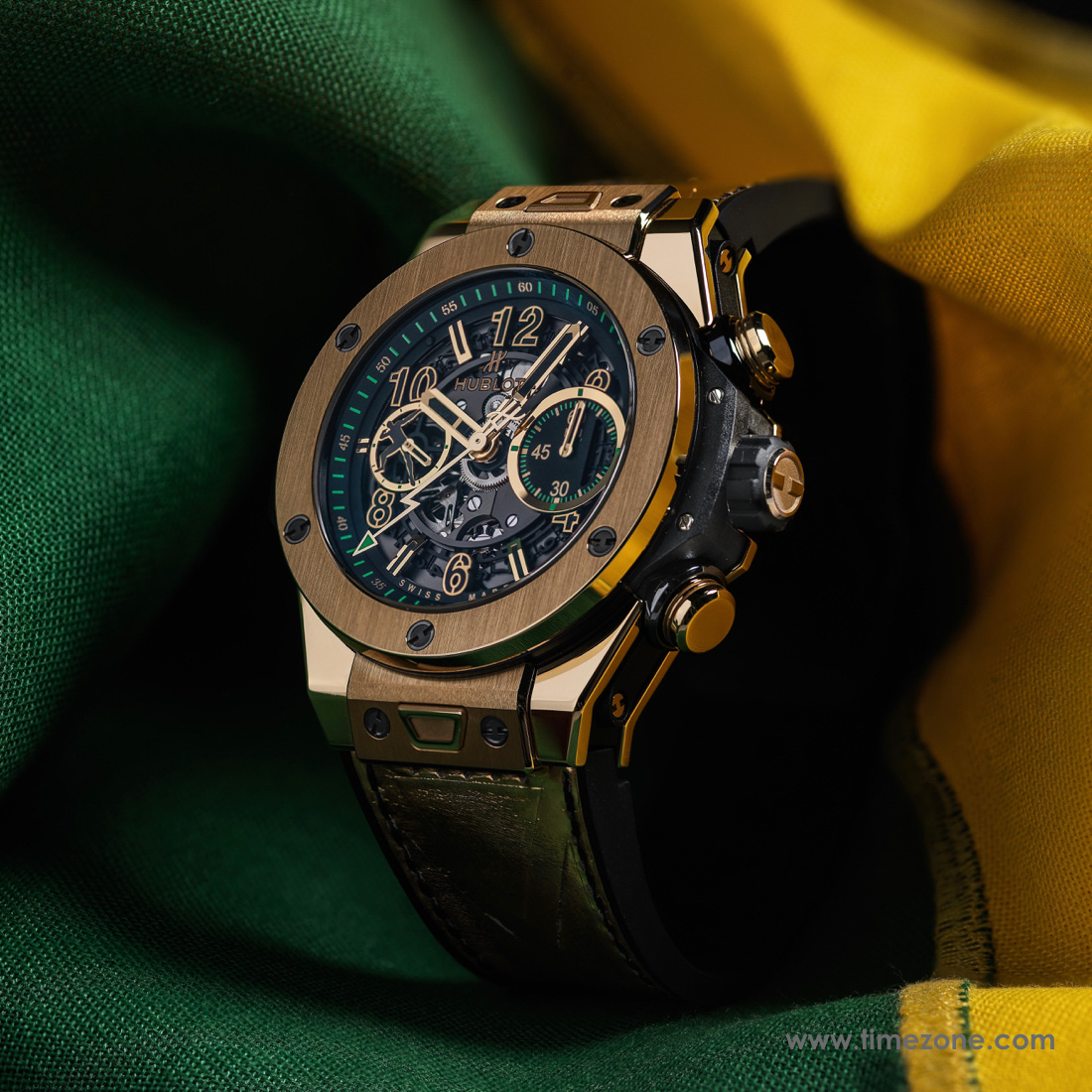 Hublot Big Bang UNICO Usain Bolt, BIG BANG UNICO USAIN BOLT YELLOW GOLD, 411.VX.1189.VR.USB16, BIG BANG UNICO USAIN BOLT CERAMIC, 411.CX.1189.VR.USB16