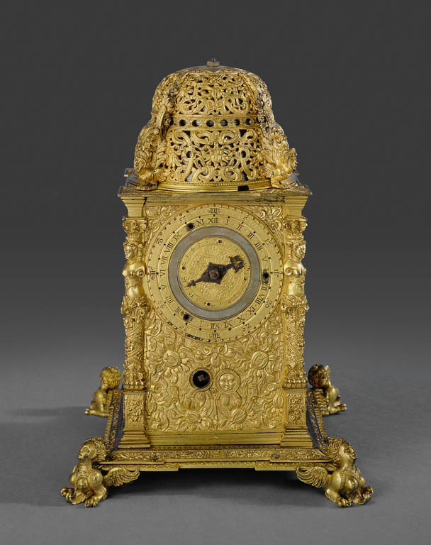 Precision and Splendor: Clocks and Watches at The Frick Collection, Pierre de Fobis, Ausburg Tower Table Clock, The Frick Collection
