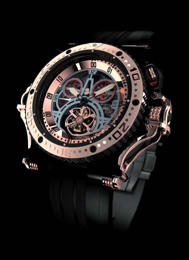 Perrelet, Edition of 20 Watches Titanium Automatic Tourbillon